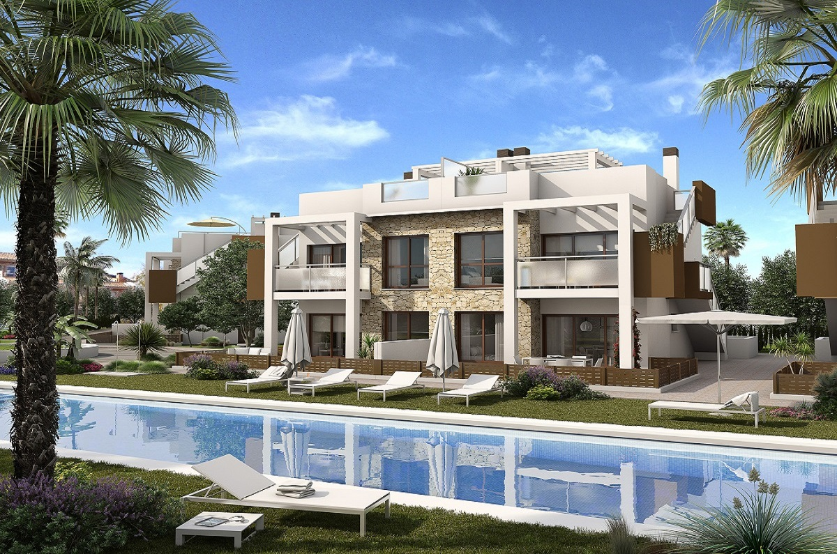 """Modern newly built complex for sale located in a quiet residential area of Torrevieja """"Los Balcones""""."""
