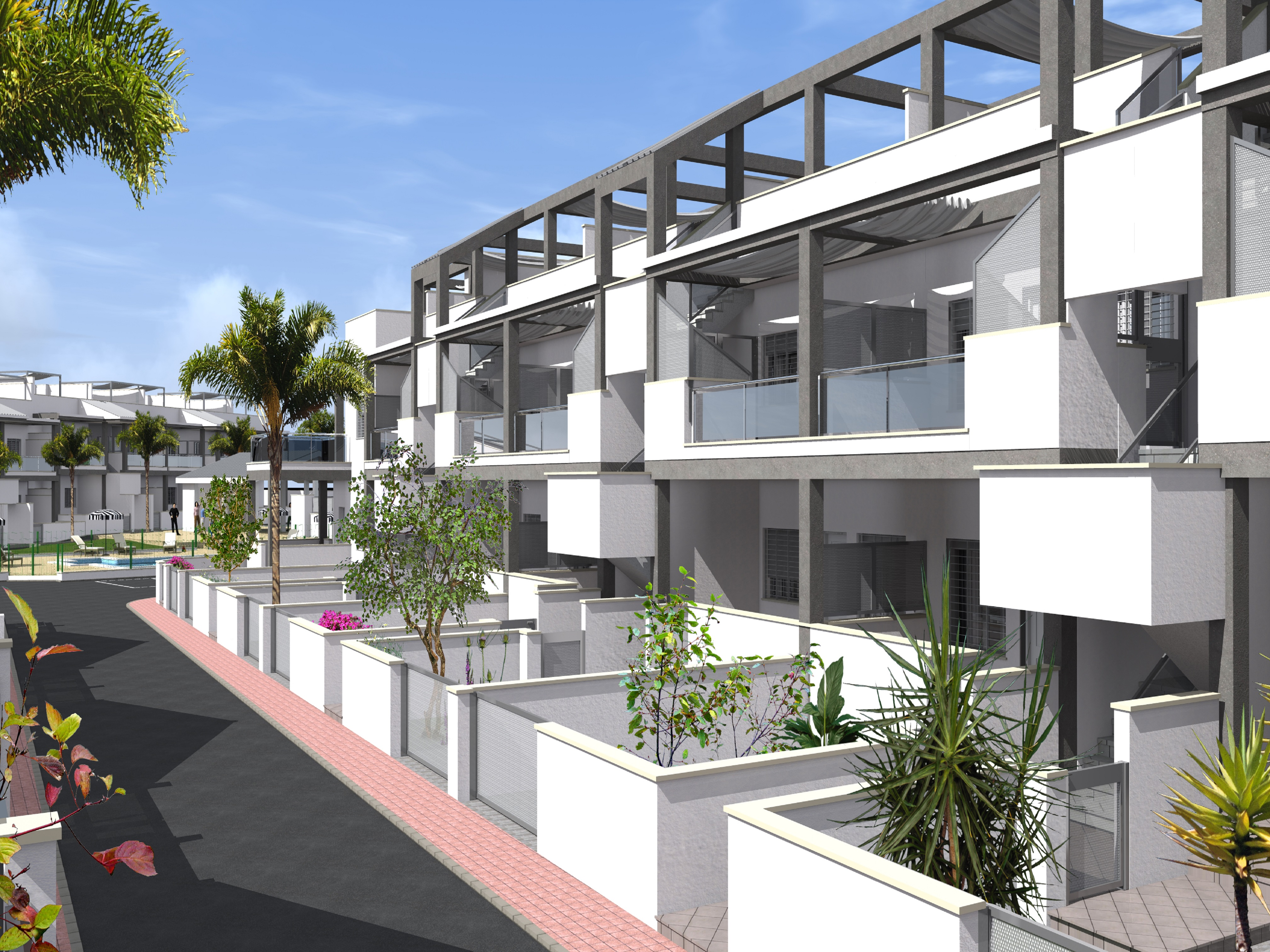 Very last new build holiday homes for sale in Playa Flamenca, La Florida, Orihuela Costa.