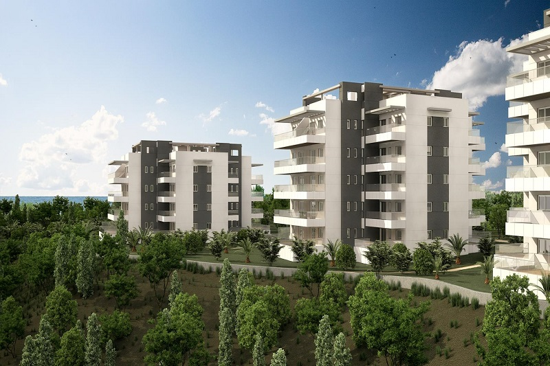New build apartments for sale in a residential complex in Los Dolses, Villamartin.