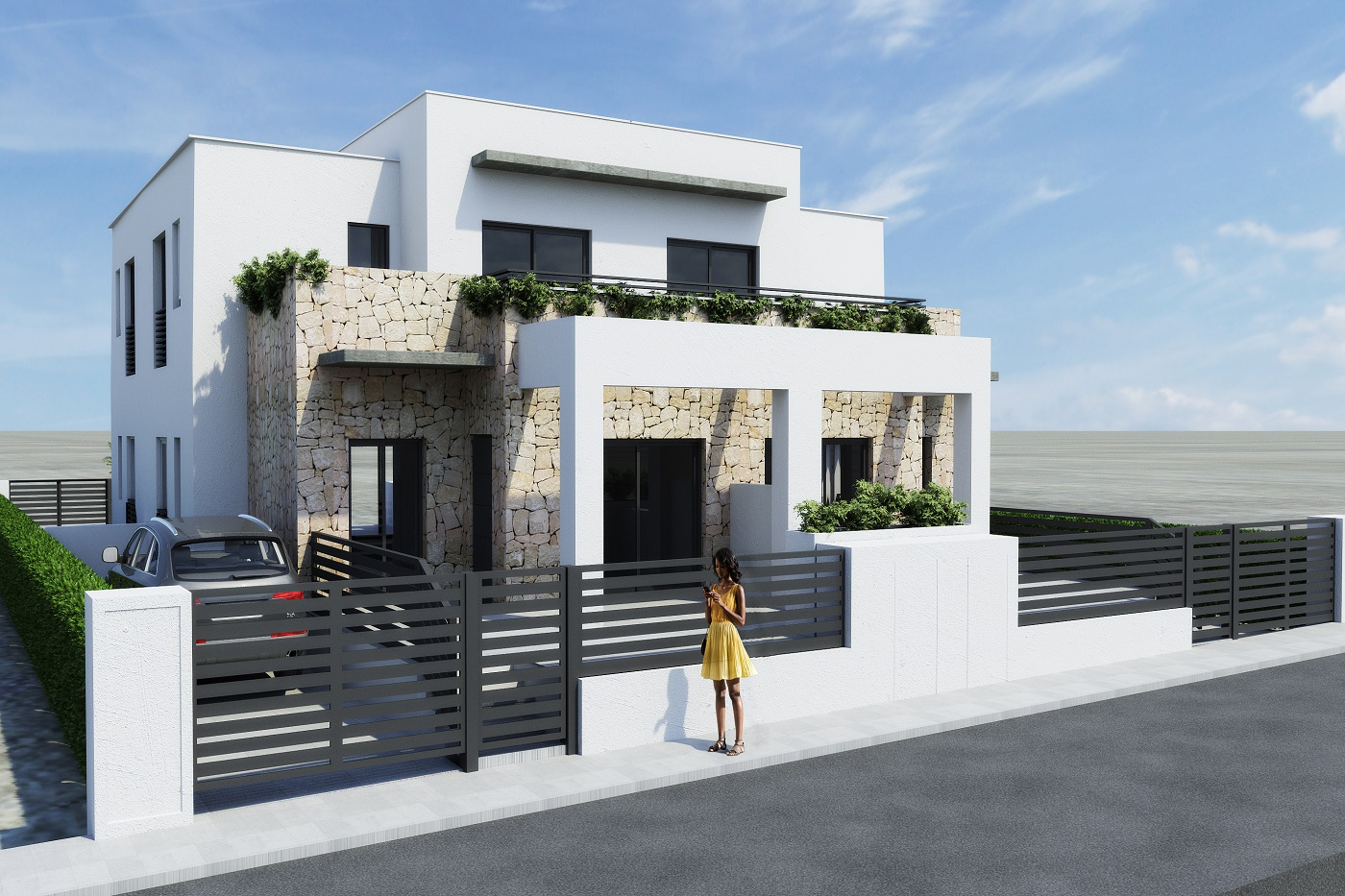 Superb new build complex for sale in a gated residential complex in Aguas Nuevas, Torrevieja.