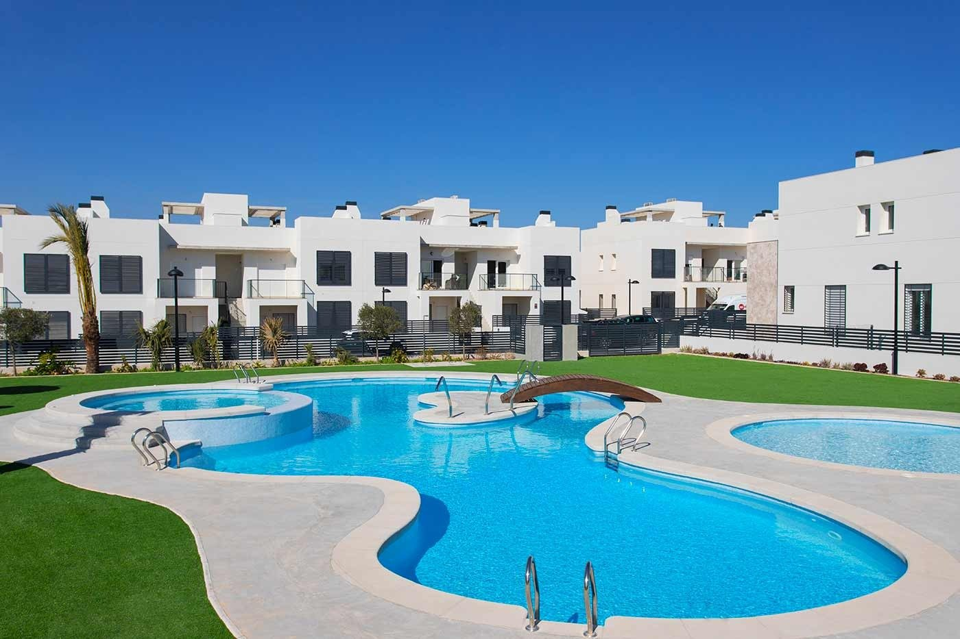 New build groundfloor and topfloor apartments for sale in Aguas Nuevas, Torrevieja.
