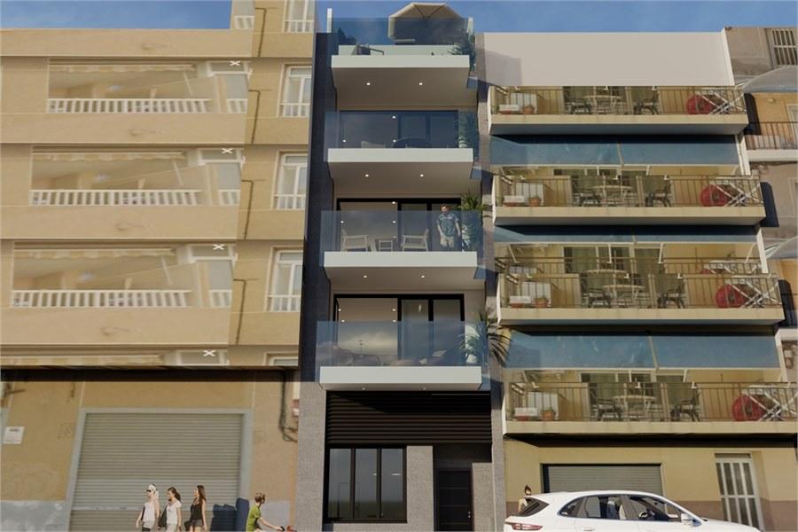 Stijlvolle nieuwbouw appartementen te koop bij het strand van Playa del Cura in Torrevieja.