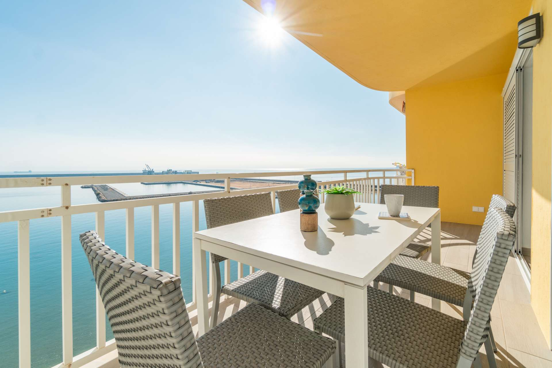 Frontline renovated apartment for sale with unobstructed sea view at the beach in Torrevieja.
