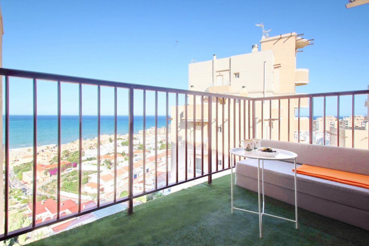 Renovated apartment for sale with spectacular sea views in La Mata, Torrevieja.