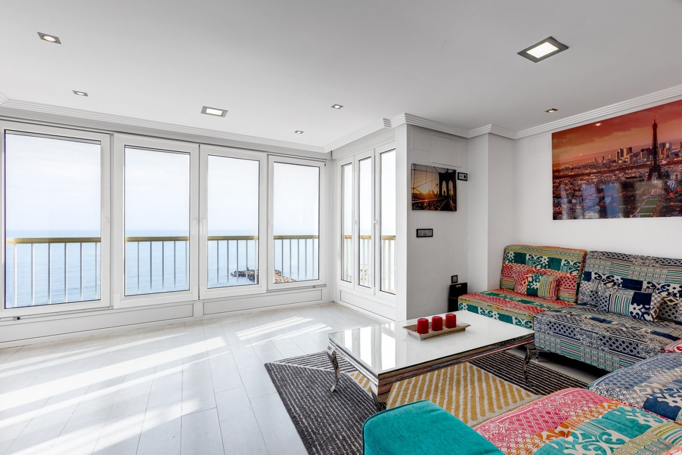 Renovated beachside apartment with panoramic sea view for sale at the Playa de los Locos beach