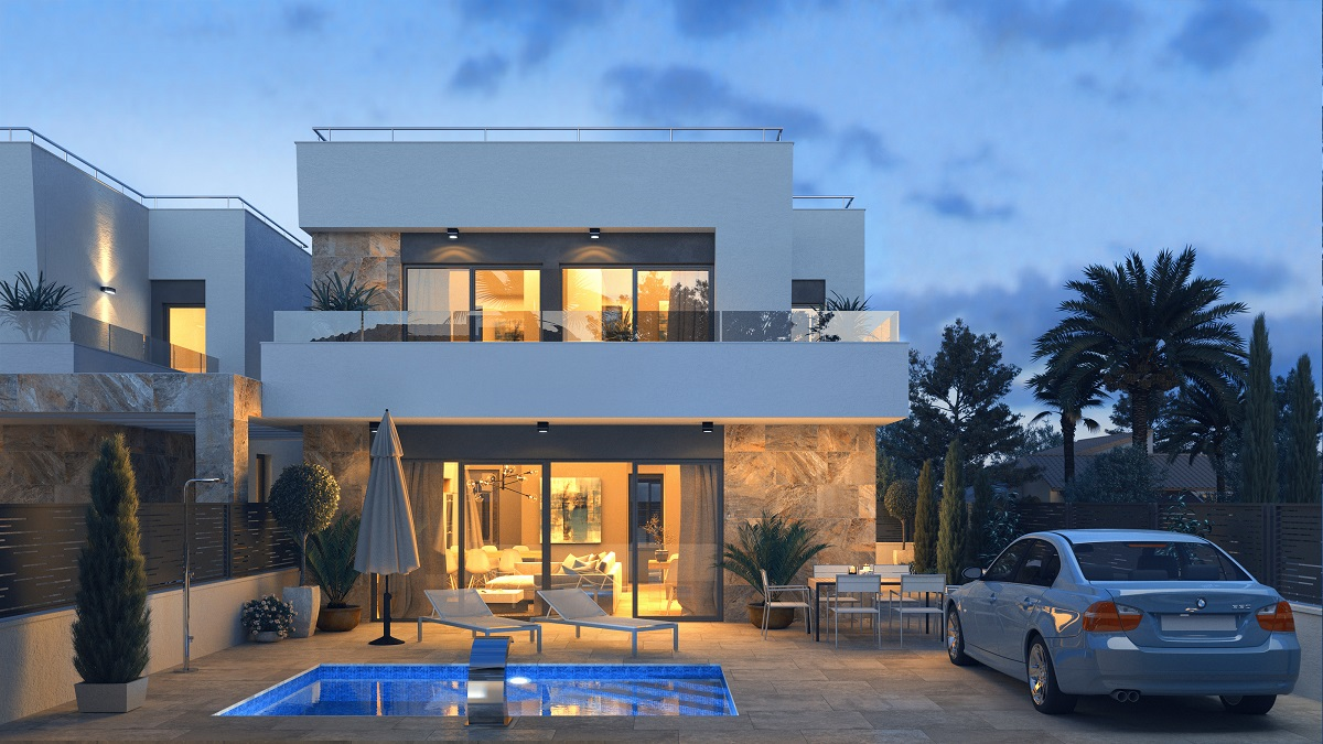 """Brand new residential complex with 6 detached villas for sale in """"El Galán"""", Villamartin."""