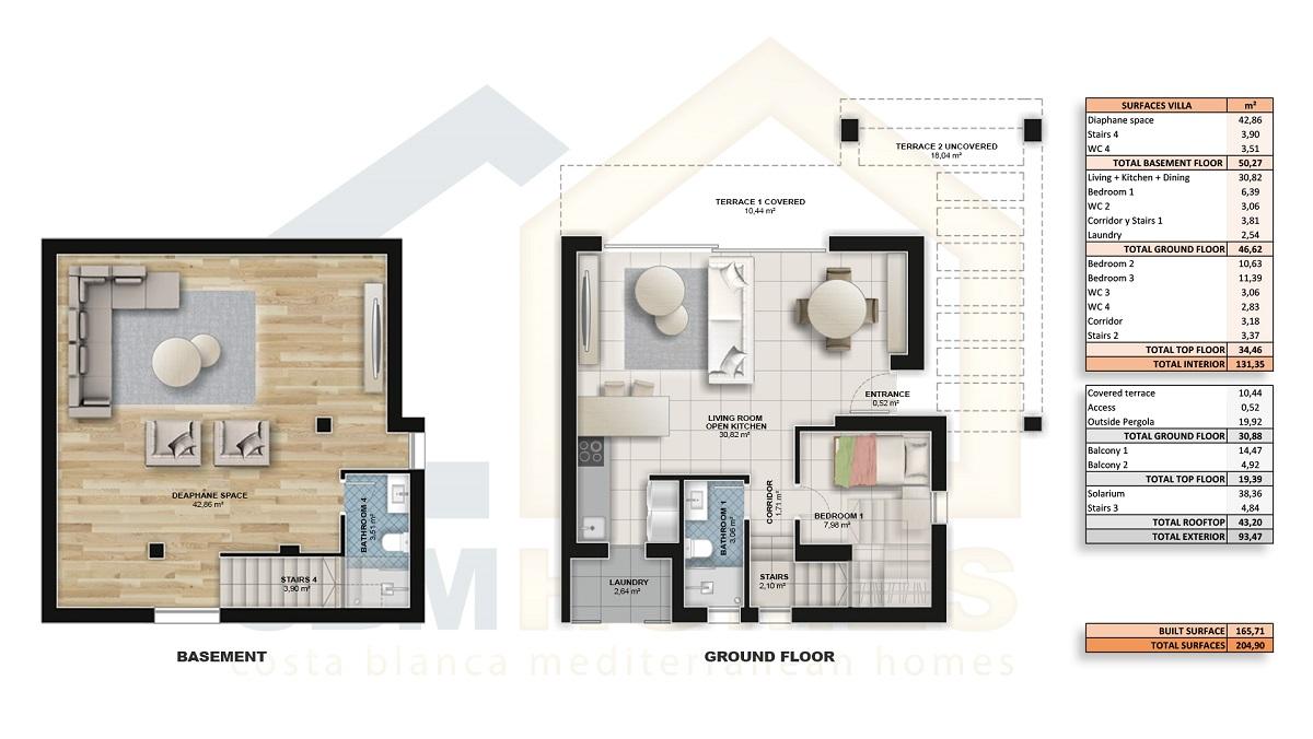 groundfloor + basement (optional)